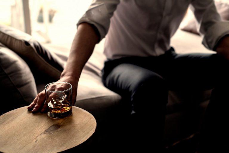 Alcohol drink man hand