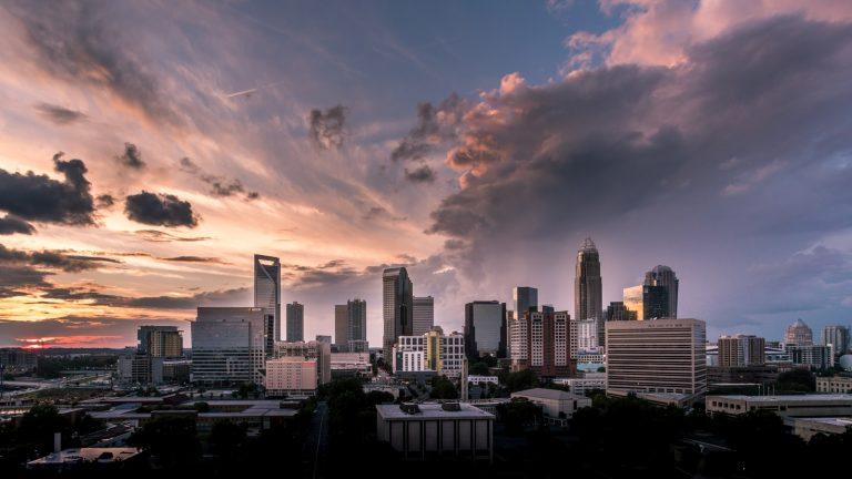 bird's-eye view of city