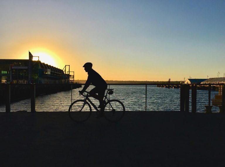 Biking on the bay. San Diego, California
